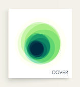 Cover design template.  Overlapping circles in white background. Design element. Vector illustration with dynamic effect.