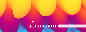 Vector volume background with color gradients. 3d abstract illustration. Template for cover, card, flyer or presentation.