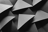 Background with geometric shapes of paper, composition abstract