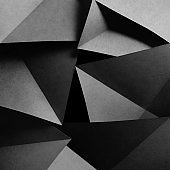 Geometric shapes of paper