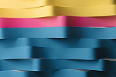 Colorful wavy stripes, abstract background