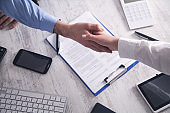 Business people shaking hands. Business partnership. Deal concept