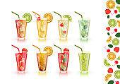 Set alcoholic beverages. Vector