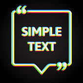 Vector template blank square creative white quote