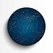 Vector circle background made star in sky.