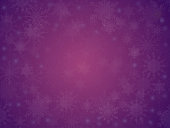 Falling white snow with purple winter sky.