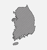 South Korea country map with creative lines vector