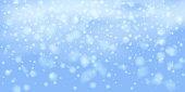 Snowflakes, snowfall.