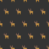 Seamless brown moose pattern