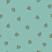 Seamless pattern with leaves of rose or brier