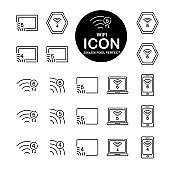 Commerce Line icon set