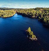 Island in Lake