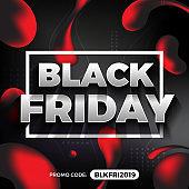 Black Friday Promotion Banner and Background. Vector illustration
