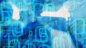 Trojan virus computer bug, cyber attack threat conception