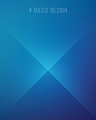 Simple Abstract Cool Blue Background