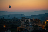 Hot air balloon in Cappadocia , turkey