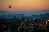 Hot air balloon in Cappadocia , turkey