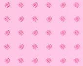Pattern Flip flops on a pink pastel background. Summer vacation concept. Minimal abstract wallpaper concept. Velvet season. Flat lay. 3d render