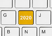 Computer keyboard with 2020 key