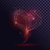 Glowing smoke heart