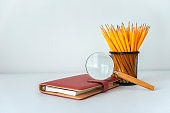 Concept of education or back to school on white background