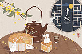 Mid autumn festival dessert