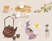 Mid autumn festival symbol