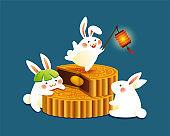 Rabbits of mid autumn festival