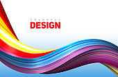 Creative modern colorful flow. Liquid 3d twisted shape for your design concept. Isolated on white background. Vector illustration, Eps10