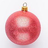 Christmas decor closeup on a white background. Isolated - Image