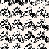 Black striped leaves background. Seamless graphic pattern.
