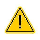 Vector hazard warning symbol.