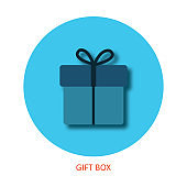 Gift Flat Design Party Icon