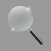 Magnifying glass Isolated Transparent Background