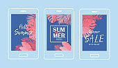 Summer Tropical Sale Banner -Vector