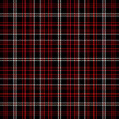 Tartan Pattern in Red and Black.