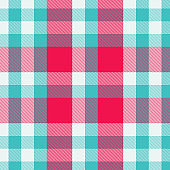 Tartan red and cyan seamless pattern.