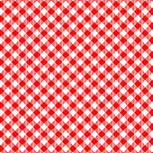 Red Gingham seamless pattern.