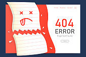 404  error page not found miss paper with  background  design template for website background graphic