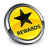 Rewards (star icon) 3d yellow round button