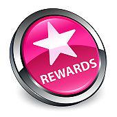 Rewards (star icon) 3d pink round button