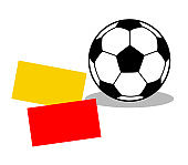 Rule violation card of the soccer