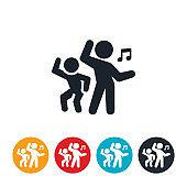 Children Dancing Icon