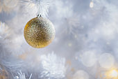 Decorated Christmas on blurred and bokeh photo