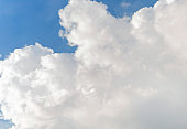 White clound background and blue sky photo