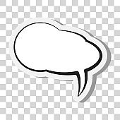 comic speech bubble or speech balloon on transparent background