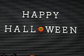 Happy Halloween on Letter Board
