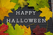 Happy Halloween and Leaves