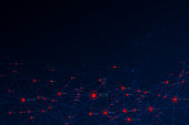 Creating big data The concept of future block chain technology. Global network connection. vector illustratio