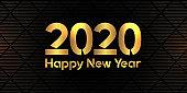 Happy New Year elegant banner design